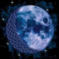 Celtic Knotwork Blue Moon by foxvox