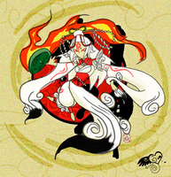 .:+Okami Celestial Amaterasu:+ by BlackHarpyGoddess