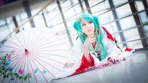 Vocaloid - Snow Miku by theDevil-photography