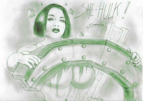 Superpowerful SHE HULK ! by POWER-BEAUTIES