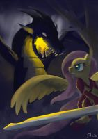 Fluttershy: Monster Hunter by flak--k