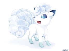 Alolan Vulpix by AmyAnnie14