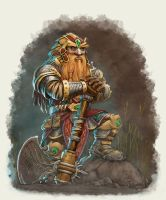 Broslorch: Dwarven Warrior by GraphicGeek