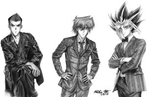 Commission for Kamilah: Men of Yugioh as Dr. Who by Yamigirl21