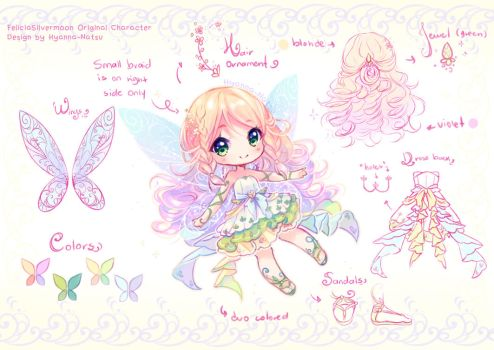 Commission - Flowerfly Fairy by Hyanna-Natsu