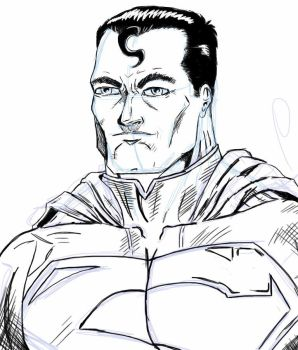 Digital Sketch - Superman by ntholden