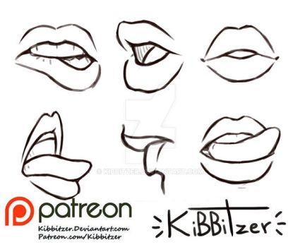 Lips reference sheet by Kibbitzer