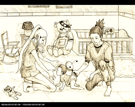 shika and ino babysetting by yurilover88