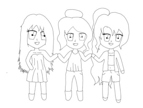 Chibi Trio: Ashleigh, Ellie, and Felicity by WinchestersManor