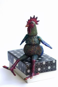Posable chicken doll by agalula