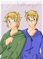 Mah fave semes: Link and Alfred by SparxPunx