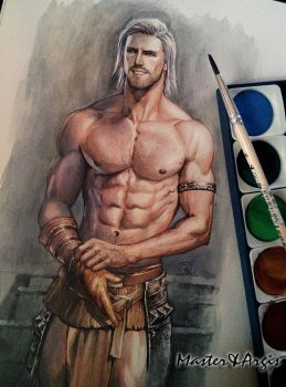 Watercolor painting. V2 by aenaluck