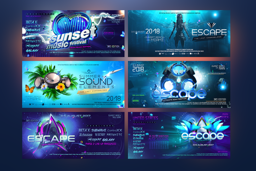 EDM-Banners by stormclub
