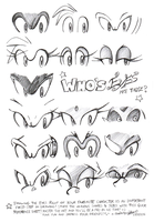 Sonic Character Eyes Reference by darkspeeds