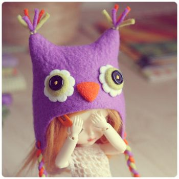 Blythe owl hat by Katy-Doll