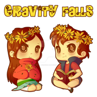 Pines Twins Flower Power by InuGurl107