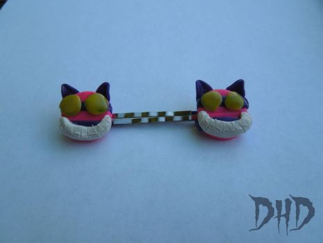 Cheshire Cat Bobby Pins by 3Alice3