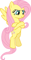 Defiant Fluttershy by HornFlakes