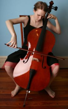 Cello 3 - playing by AttempteStock