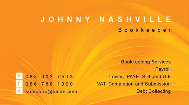 Org Bookkeeper Business Card by nighthawk101stock