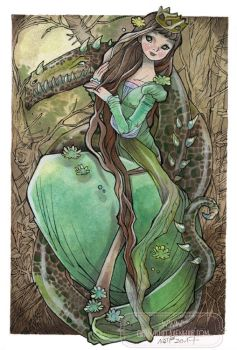 The Princess and the Dragon by nati
