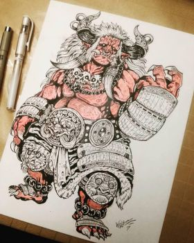 traditional oni by TheWolfMaria
