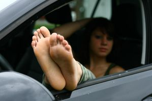 The soles of her feet