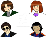 Eighth Doctor Movie Chibi Set by cookiepianosart