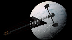 Approaching Enceladus by SMPritchard