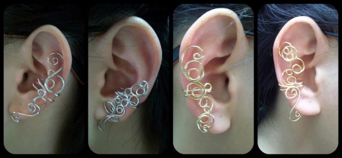 Wire Ear Cuffs by sodacrush