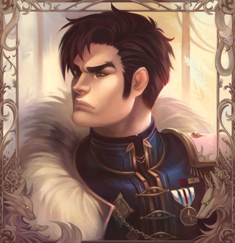 Portrait of Honor  - Commission by clover-teapot