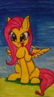 fluttershy and the butterfly by Th3Stargazer