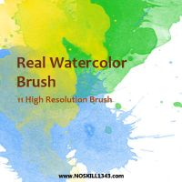 Watercolor - Photoshop Brushes by nosKILL1343