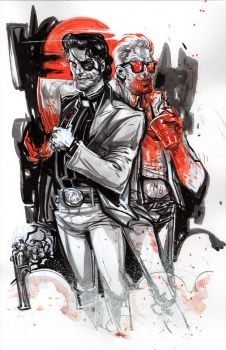 Jesse and Cassidy from PREACHER by ChrisVisions