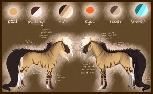 Ref Sheet - Xanthe by Rorelse