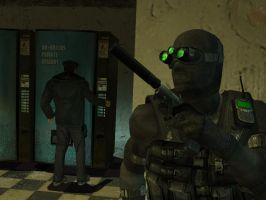 Sam Fisher Being Sneaky by Tyger18