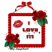 I Love it - red Frame with Roses by JumpBiest