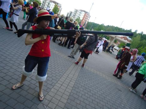 Me as Luffy by Buttaa