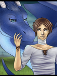 Eragon and Saphira by villainesayre
