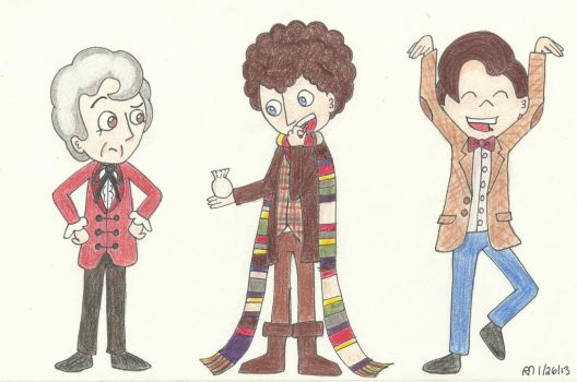 Three Doctors - Old and New by Kindra-Mckleen