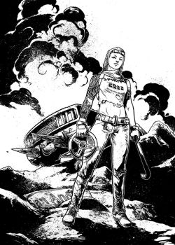 Freeway Fighter #2 variant cover by Spacefriend-T