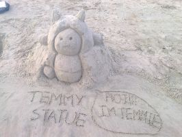 Sand temmy statue by Paumol