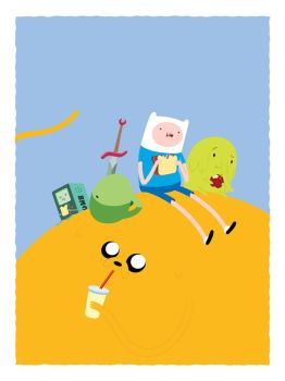 Picnic time with Finn and Jake by lanbridge