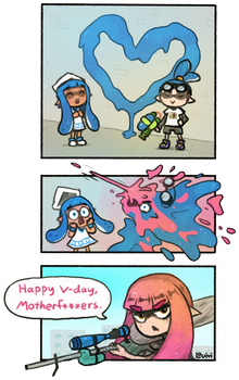 SWD comic - Happy V-day by Louivi