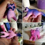 WIP - Bisexual Pride Raccoon Sculpture by A-Girl-Named-Chester