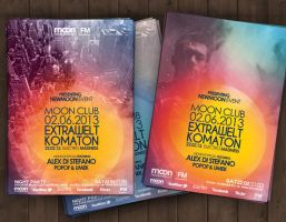 Futuristic Party Flyer PSD by DusskDeejay