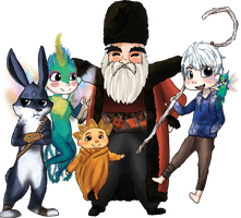 Rise of The Guardians by Hibouette