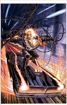 Ghost Rider #5 (Venomized Variant Cover) by DustinWeaver