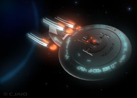 Star Trek Enterprise-D by ScrawnySquall