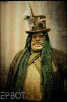 Steampunk Jabba the Hutt by VynetteDantes
